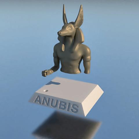 7.png Download STL file PENCIL HOLDER, ANUBIS • 3D printing design, 3Diego