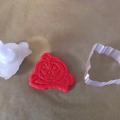 Download 3D printer files Halloween pumpkin cookies mold, dozo007