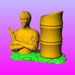 Télécharger plan imprimante 3D Bruce Lee porte-stylo patience B, 3D_Dragon