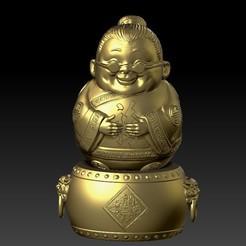 Y23.jpg Download STL file Happy Tim Fu Grandma • 3D printable template, 3D_Dragon