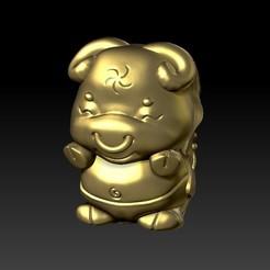 Download 3D printer templates Zodiac 3D Q version  2 OX, 3D_Dragon