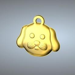 Free 3D printer designs Q1 type 11-Dog pendant, 3D_Dragon