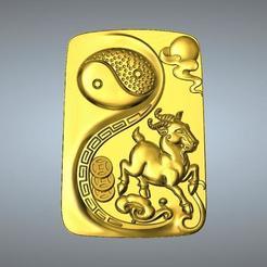 Télécharger fichier STL Pendentif Zodiaque I Ching Tai Chi 8 Moutons, 3D_Dragon