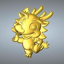 Free 3D model QA TYPE ZODIAC PENDANT 5 DRAGON, 3D_Dragon
