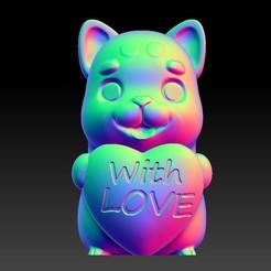 Download 3D printer designs Valentine's Day Jewelry Zodiac - 11 Dog with love, 3D_Dragon
