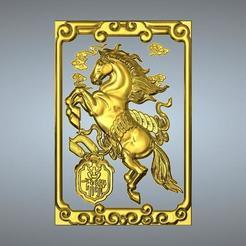 Télécharger fichier impression 3D Nouveau type Pendentif Zodiaque 7 Chevaux, 3D_Dragon
