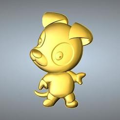 Free 3D printer files QA TYPE ZODIAC PENDANT 11 DOG, 3D_Dragon