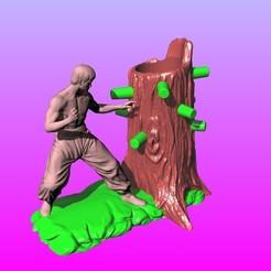 Download 3D print files Bruce Lee Wing Chun Boxing Pen Holder, 3D_Dragon