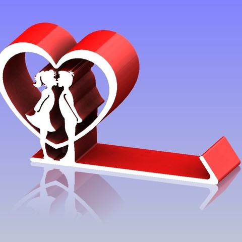Impresiones 3D Porta teléfono Heart Shape 3, 3D_Dragon