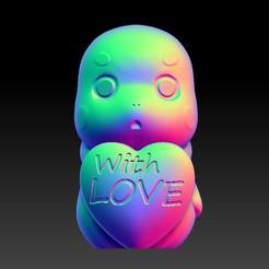 Download 3D printer designs Valentine's Day Jewelry Zodiac - 5 dragon with love, 3D_Dragon