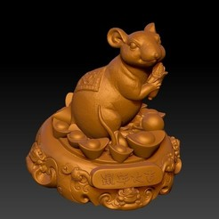 Download 3D printing models China Year of the Rat Fortune Decoration 4, 3D_Dragon