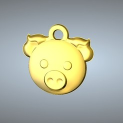 Télécharger objet 3D gratuit Pendentif Q1 type 12-Porc, 3D_Dragon
