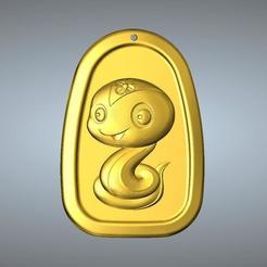 Descargar archivos STL Colgante QC tipo Zodiac 6 Serpiente, 3D_Dragon