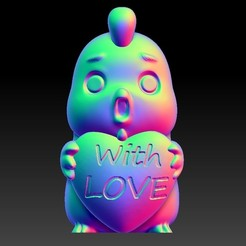 Download 3D printing files Valentine's Day Jewelry Zodiac - 10 Rooster with love, 3D_Dragon