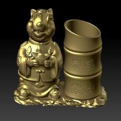 Descargar modelos 3D para imprimir China Año de la Rata Fortune Portabolígrafos 1, 3D_Dragon