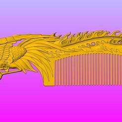 Download 3D printer files Classic phoenix comb, 3D_Dragon