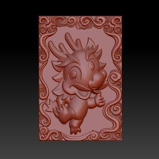 Download 3D printer designs QB type Zodiac pendant 5 dragon, 3D_Dragon
