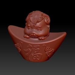 Download 3D print files Zodiac Gold Ingot Edition   8 Sheep, 3D_Dragon
