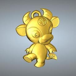 Télécharger fichier impression 3D QD type Zodiac pendentif 2 OX, 3D_Dragon