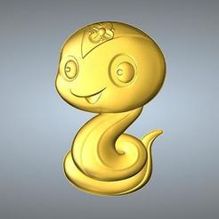Free 3D model QA TYPE ZODIAC PENDANT 6 SNAKE, 3D_Dragon