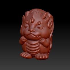 Download 3D print files Zodiac 3D Q version  5 dragon, 3D_Dragon