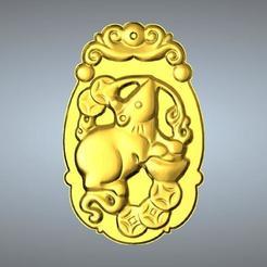 Télécharger objet 3D Sculpture en jade zodiaque chinois, 3D_Dragon