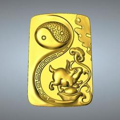 3D printer files I Ching Tai Chi  Zodiac pendant 4 Hare, 3D_Dragon