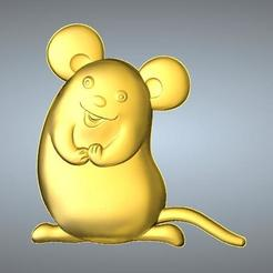 Free 3D model QA TYPE ZODIAC PENDANT 1 RAT, 3D_Dragon