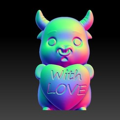 Download 3D printing files Valentine's Day Jewelry Zodiac - 2 OX with love, 3D_Dragon