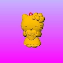 Télécharger fichier imprimante 3D Porte-clés Kitty pendentif 1~3, 3D_Dragon