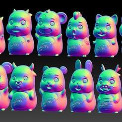 TA3.jpg Download STL file Love Jade carving  Zodiac Pendant & Ornament 1-12 • 3D printable model, 3D_Dragon
