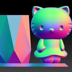 Download 3D printing models KITTY PEN HOLDER, 3D_Dragon