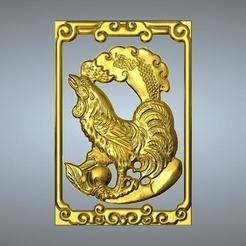 Télécharger modèle 3D Nouveau type Pendentif Zodiaque 10 Coqs, 3D_Dragon