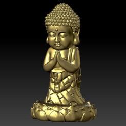 小如來 X2 BA3.jpg Télécharger fichier STL Statue en or, petits ornements de moine • Plan à imprimer en 3D, 3D_Dragon
