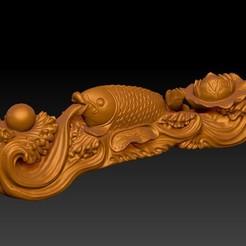 2020-09-11_024231.jpg Télécharger fichier STL Des poissons heureux dans les ornements d'eau • Plan à imprimer en 3D, 3D_Dragon