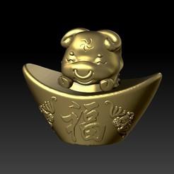 Download 3D printer model Zodiac Gold Ingot Edition   2 OX, 3D_Dragon