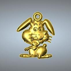 Free 3D printer files Q2 TYPE 04-RABBIT PENDANT, 3D_Dragon