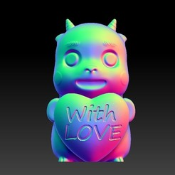 Download 3D printing designs Valentine's Day Jewelry Zodiac - 7 Horse with love, 3D_Dragon