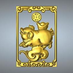 Descargar diseños 3D Nuevo tipo de colgante Zodiac 12 Cerdo, 3D_Dragon
