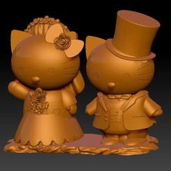 KB11.jpg Download STL file KITTY Wedding Doll Decoration • Template to 3D print, 3D_Dragon