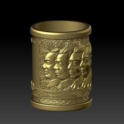 Descargar modelos 3D Portabolígrafos antiguo de 100 yuan RMB, 3D_Dragon