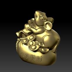 Descargar archivo 3D Decoración del Año de la Fortuna de las Ratas en China 1, 3D_Dragon