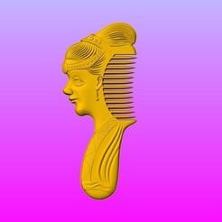Download STL files Beauty comb, 3D_Dragon