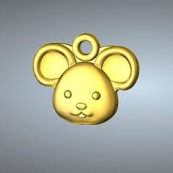 Free STL file Q1 type 01-Mouse pendant, 3D_Dragon