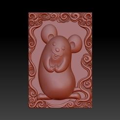 Download 3D printing designs QB type Zodiac pendant 1 Rat, 3D_Dragon
