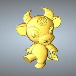 Fichier imprimante 3D gratuit QA TYPE PENDENTIF ZODIAQUE 2 BOEUFS, 3D_Dragon