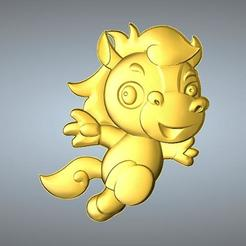 Free 3D model QA TYPE ZODIAC PENDANT 7 HORSE, 3D_Dragon