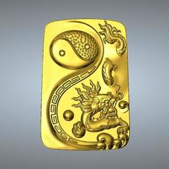 STL files I Ching Tai Chi  Zodiac pendant 5 dragon, 3D_Dragon