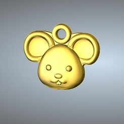 3D print model Q1 type 01-Mouse pendant , Dorae_3D_Dragon