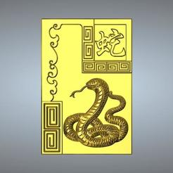 Descargar STL 06-Serpiente zodiacal china texturizada, 3D_Dragon